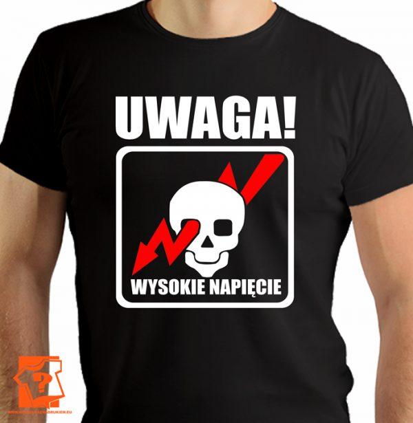 Uwaga wysokie napięcie - koszulki z nadrukiem