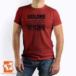 Prezent koszulka z nadrukiem królowie rodzą się w styczniu - koszulki na prezent