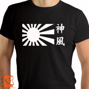Flaga Kamikaze w biały kolorze - koszulki z nadrukiem