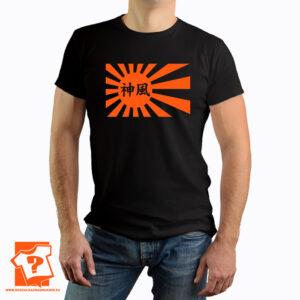 Flaga Kamikaze w pomarańczowym kolorze - koszulka z nadrukiem