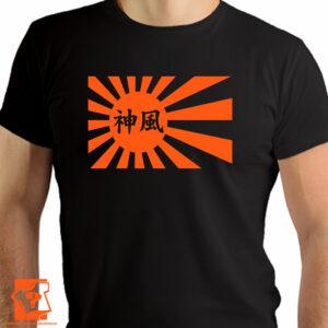 Flaga Kamikaze w pomarańczowym kolorze - koszulki z nadrukiem