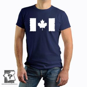 Flaga Kanady na koszulce - koszulka z nadrukiem