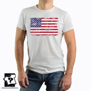 Flaga USA - koszulka z nadrukiem