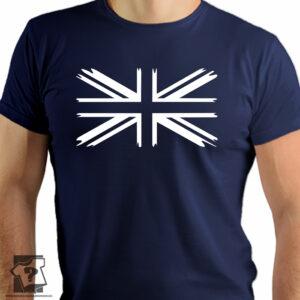 Flaga Wielkiej Brytanii na koszulce - koszulki z nadrukiem