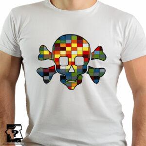 Koszulka kolorowa czaszka - koszulki z nadrukiem