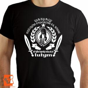 Koszulka męska wszyscy mężczyźni urodziny luty - koszulki z nadrukiem