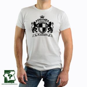 Męska koszulka z nadrukiem Królowie rodzą się w lutym - koszulka z nadrukiem