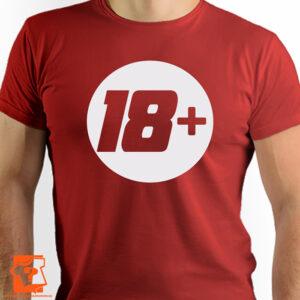 18 + koszulka na 18 urodziny - koszulki z nadrukiem