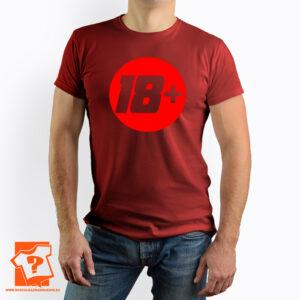 18 + koszulka na 18 urodziny - męska koszulka z nadrukiem