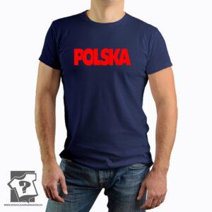 Czerwona patriotyczna z napisem Polski - koszulka z nadrukiem