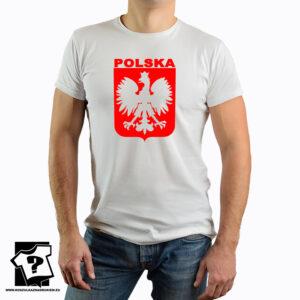 Koszulka Polski z czerwonym godłem - koszulka z nadrukiem