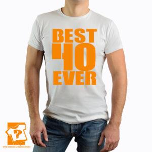 Męska koszulka z nadrukiem - best 40 ever - koszulka na 40 urodziny