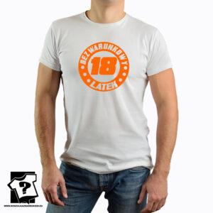 Bezwarunkowy 18 latek - śmieszny prezent urodzinowy - męska koszulka z nadrukiem