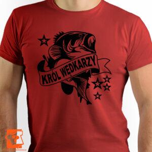 Król wędkarzy - koszulki z nadrukiem dla wędkarzy