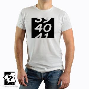 Prezent na 40 urodziny - 39 40 41 - koszulka z nadrukiem