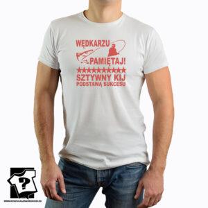 Sztywny kij podstawą sukcesu - koszulka z nadrukiem
