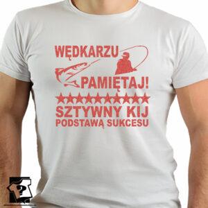 Sztywny kij podstawą sukcesu - koszulki z nadrukiem