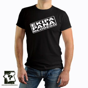 Ekipa pana młodego - koszulka z nadrukiem - wieczór kawalerski