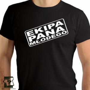 Ekipa pana młodego - koszulki z nadrukiem - wieczór kawalerski