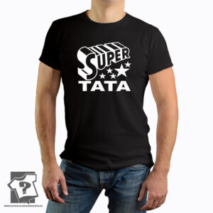 Super tata - koszulka z nadrukiem dla taty