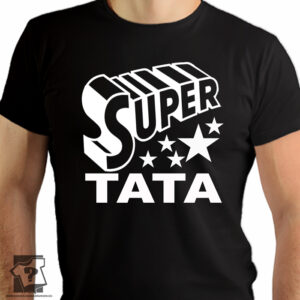 Super tata - koszulki z nadrukiem dla taty