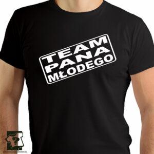 Team pana młodego - koszulka z nadrukiem - koszulki na wieczór kawalerski