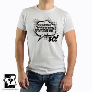 30 lat to nie wiek męska koszulka z nadrukiem śmieszny prezent 30 urodziny dla chłopaka brata przyjaciela
