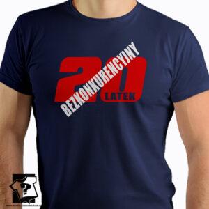 Bezkonkurencyjny 20 latek koszulka z nadrukiem na 20 urodziny męskie dla chłopaka, prezent dla syna, mężczyzny