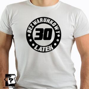 Bezkonkurencyjny 30 latek koszulki dla chłopaka z nadrukiem śmieszny prezent 30 urodziny