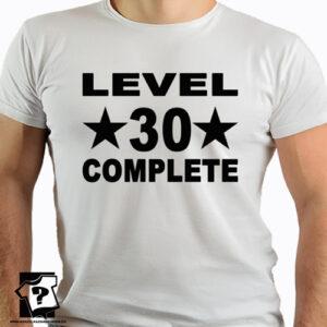 Level 30 complete koszulki dla chłopaka z nadrukiem śmieszny prezent 30 urodziny