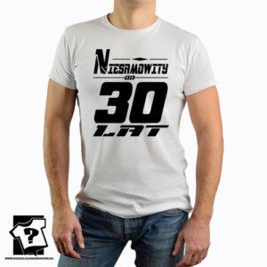 Niesamowity od 30 lat koszulka dla chłopaka z nadrukiem śmieszny prezent 30 urodziny
