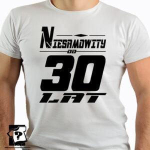 Niesamowity od 30 lat koszulki dla chłopaka z nadrukiem śmieszny prezent 30 urodziny