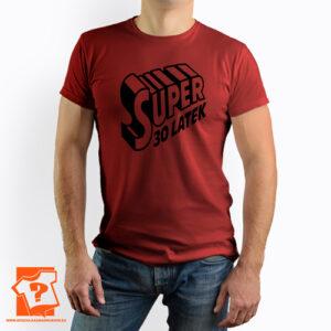 Super 30 latek koszulki z nadrukiem na 30 urodziny męskie dla chłopaka, kolegi, przyjaciela