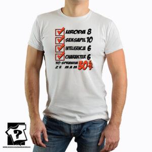 koszulka dla chłopaka z nadrukiem śmieszny prezent z motywem 30 urodziny