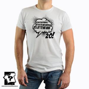 20 lat koszulki z nadrukiem na urodziny męskie dla chłopaka, prezent dla syna, mężczyzny, przyjaciela