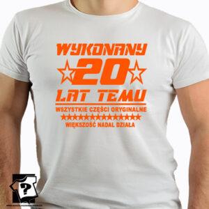 20 lat temu koszulka z nadrukiem na 20 urodziny męskie dla chłopaka, prezent dla syna, mężczyzny, przyjaciela