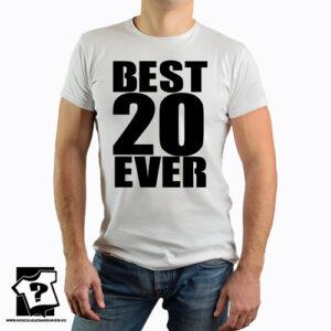 Best 20 ever koszulka z nadrukiem dla chłopaka, prezent na urodziny dla syna, mężczyzny