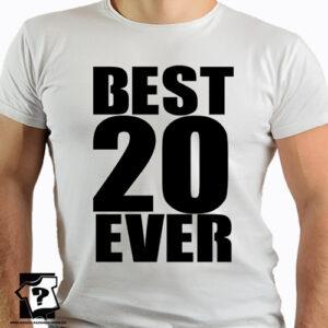 Best 20 ever koszulki z nadrukiem dla chłopaka, prezent na urodziny dla syna, mężczyzny