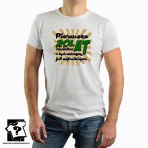Tak wygląda 20 letnie ciacho koszulka prezent dla mężczyzny, chłopaka, syna