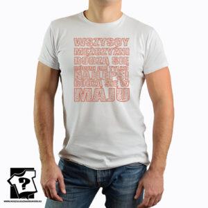 Koszulka z nadrukiem najlepsi rodzą się w maju śmieszny prezent urodzinowy