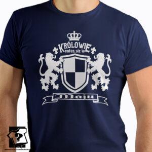 Prezent dla chłopaka koszulka z nadrukiem królowie rodzą się w maju