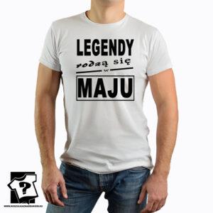 T-shirt legendy rodzą się w maju śmieszny prezent na urodziny dla chłopaka