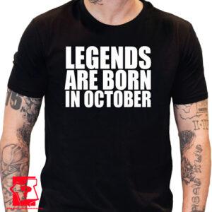 Koszulka z nadrukiem legends are born in September śmieszny prezent urodzinowy