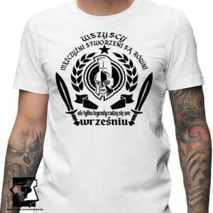 Koszulka z nadrukiem na urodziny prezent ze śmiesznym napisem ale tylko legendy rodzą się we wrześniu