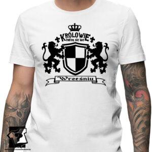 Koszulka z nadrukiem na urodziny prezent ze śmiesznym napisem królowie rodzą się we wrześniu