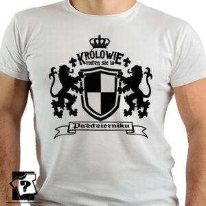 Królowie rodzą się w październiku koszulka z nadrukiem dla chłopaka prezent urodzinowy