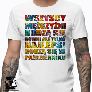 Najlepsi rodzą się w październiku koszulka z nadrukiem śmieszny prezent dla chłopaka
