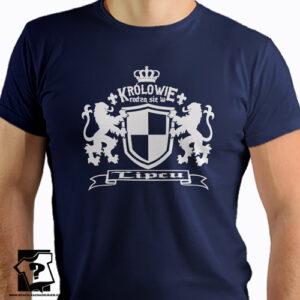 Prezent koszulka z nadrukiem królowie rodzą się w lipcu
