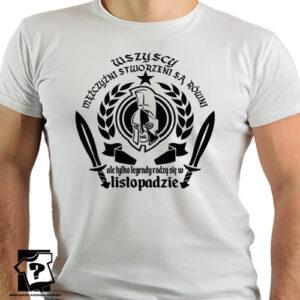 Koszulka męska ale tylko legendy rodzą się w listopadzie śmieszny prezent na urodziny