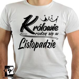 Koszulka męska prawdziwi królowie rodzą się w listopadzie na urodziny